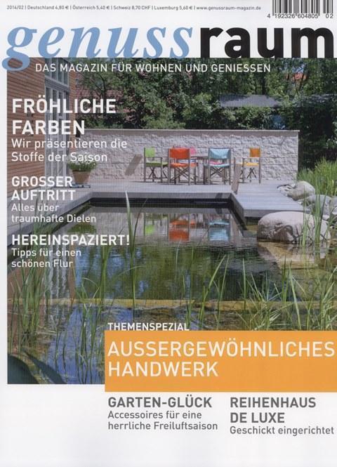 Genuss_Raum_das_Magazin_fuer_Wohnen_und_geniessen_Ausgabe_02_2014_Pressemitteilunge_wetterfester_und_robuster_Lampion_Barlooon_Cover