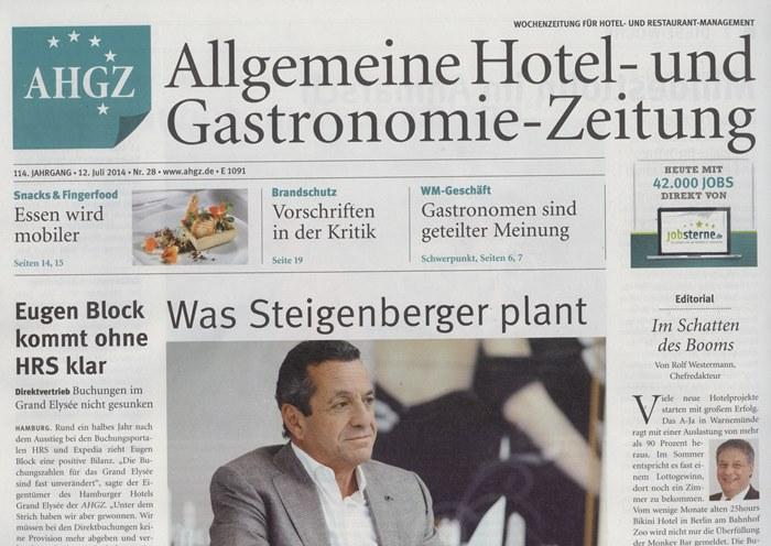 Allgemeine_Hotel_und_Gastronomie_Zeitung_Ausgabe_28_Juli_2014_Pressemitteilung_Cover