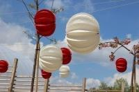 Our Barlooon at the garden show in the Havel region 2015 - strung up like pearls