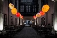 The weatherproof and robust lampion Barlooon at Café Latte 1070 Vienna Austria - A play of light.