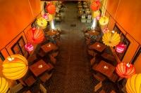 The weatherproof and robust lampion Barlooon in Café Latte 1070 Vienna Austria - enchanting lighting.