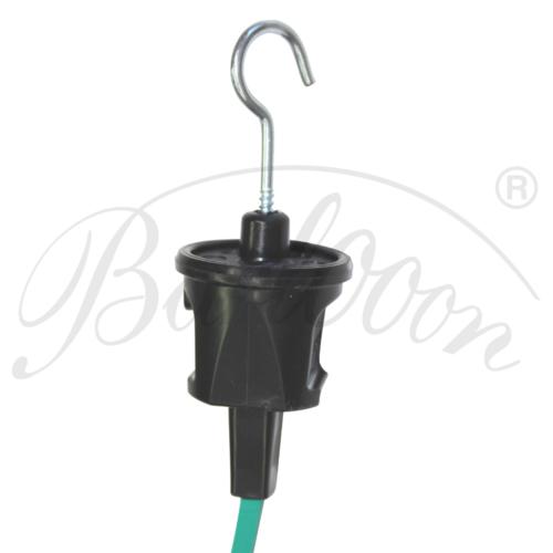 Illu-Kabel Endstück mit Haken - Beleuchtungszubehör für den wetterfesten und robusten Outdoor Lampion Barlooon.
