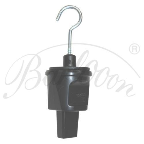 Illu-Kabel Endstück mit Haken in schwarz - Beleuchtungszubehör für den wetterfesten und robusten Outdoor Lampion Barlooon.