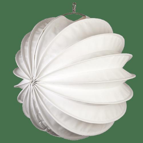 Der wetterfeste Outdoor Lampion Barlooon in weiß in der Grösse L - Die Seitenansicht.