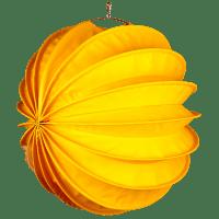 Der wetterfeste Outdoor Lampion Barlooon in gelb in der Grösse L - Die Seitenansicht.