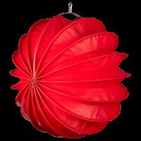 Der wetterfeste Outdoor Lampion Barlooon in rot in der Grösse L - Die Seitenansicht.