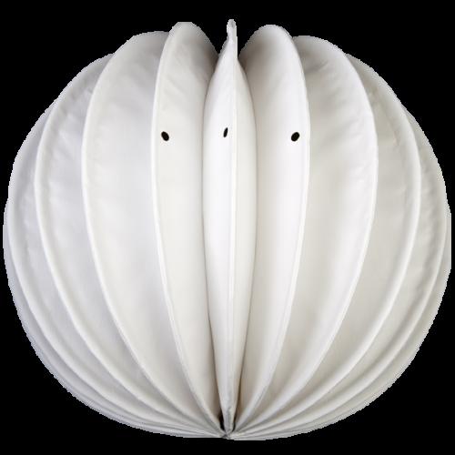 Der wetterfeste Outdoor Lampion Barlooon in weiß in der Grösse M - Die Regenabflußlöcher.
