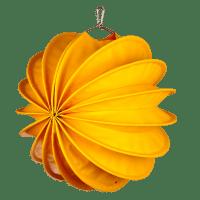 Der wetterfeste Outdoor Lampion Barlooon in gelb in der Grösse M - Die Seitenansicht.