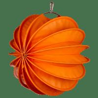 Der wetterfeste Outdoor Lampion Barlooon in orange in der Grösse M - Die Seitenansicht.