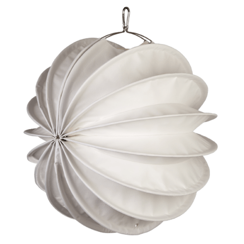 The weatherproof Outdoor Lampion Barlooon in white in size M - The side view.