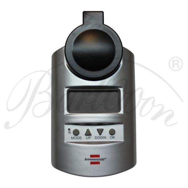 Brennenstuhl digitale Zeitschaltuhr - Detailansicht von vorne - Beleuchtungszubehör für den wetterfesten und robusten Outdoor Lampion Barlooon.