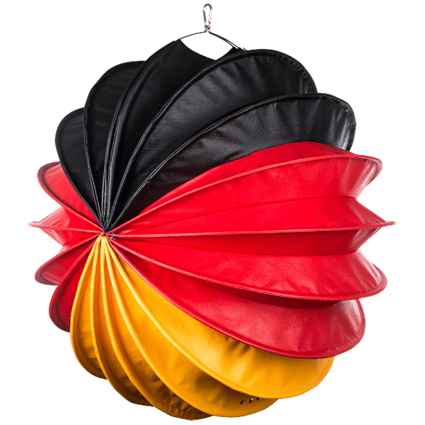 Die Deutschlandausführung in schwarz-rot-gelb von Barlooon in der Größe L.