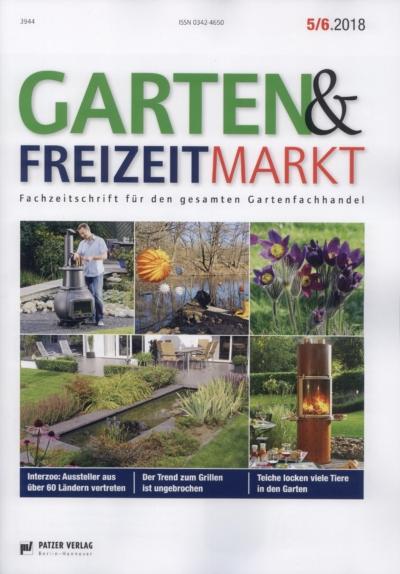 Garten & Freizeitmarkt Fachzeitschrift fuer den Gartenfachhandel Ausgabe 5 6 2018 Pressemitteilung wetterfester Lampion Barlooon Cover