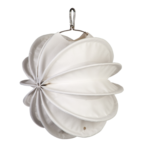 The weatherproof Outdoor Lampion Barlooon in white in size S - The side view.