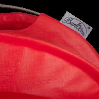 Der wetterfeste Outdoor Lampion Barlooon in rot in der Grösse S - Das Label.