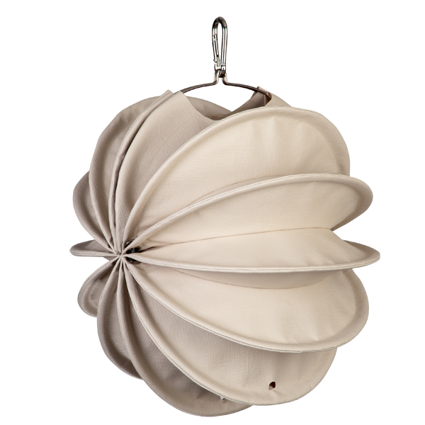 The weatherproof Outdoor Lampion Barlooon in cream in size S - The side view.