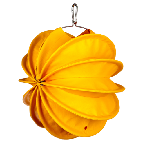 The weatherproof Outdoor Lampion Barlooon in yellow in size S - The side view.