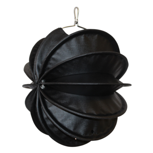The weatherproof Outdoor Lampion Barlooon in the Dark-Edition in black size S in side view.