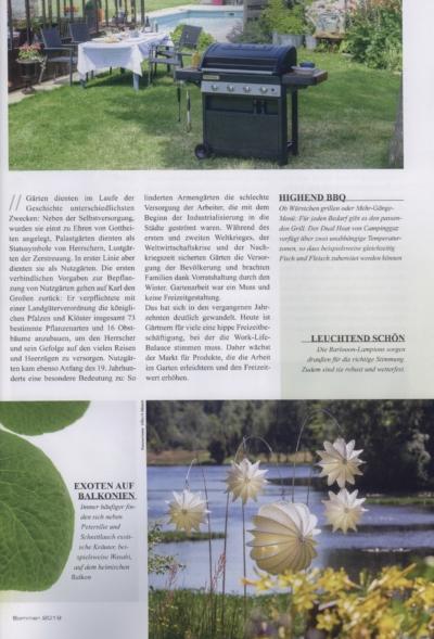 Trends and Style Handelsnmagazin für Geschenke Home Deco Lifestyle Ausgabe 2_2019 Pressemitteilung wetterfester Lampion Barlooon Bericht