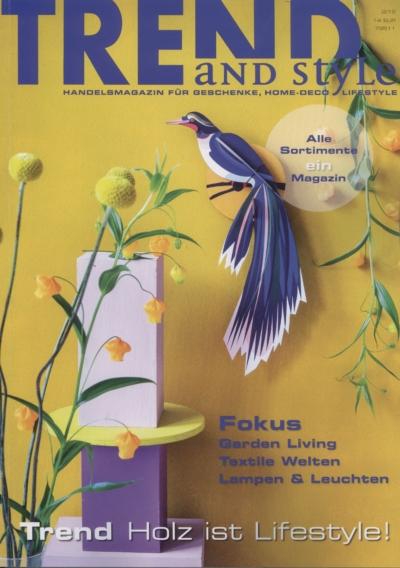 Trends and Style Handelsnmagazin für Geschenke Home Deco Lifestyle Ausgabe 2_2019 Pressemitteilung wetterfester Lampion Barlooon Cover
