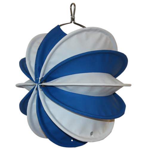The weatherproof Outdoor Lampion Barlooon - You Edition - in blue white in size S