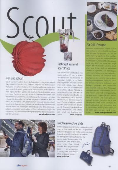 pbs report magazin für büro & papeterie Ausgabe Mai 2019 Pressemitteilung wetterfester Lampion Barlooon Bericht