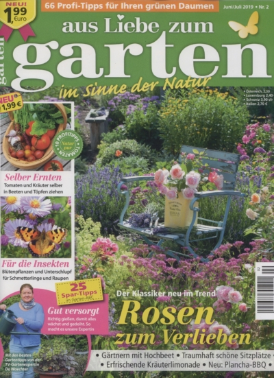 Aus Liebe zum Garten im Sinne der Natur Ausgabe Juni_Juli 2019_ Ausgabe Nr. 2_ Pressemitteilung wetterfester Lampion Barlooon Cover