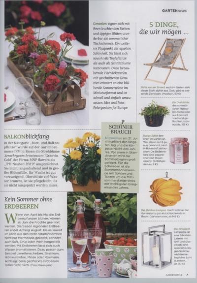 Garden Style Das Magazin für Garten-Ideen & Dekoration Ausgabe 2_2019 Pressemitteilung wetterfester Lampion Barlooon Bericht