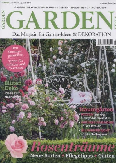 Garden Style Das Magazin für Garten-Ideen & Dekoration Ausgabe 2_2019 Pressemitteilung wetterfester Lampion Barlooon Cover