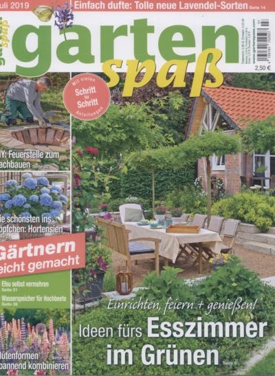 Garten Spaß Ausgabe Juli 2019 Pressemitteilung wetterfester Lampion Barlooon Cover
