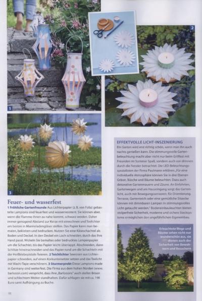 Landidee Wohnen und Deko Natürliche Wohnideen für Zuhause Ausgabe Juni Juli 2019 Pressemitteilung wetterfester Lampion Barlooon Bericht