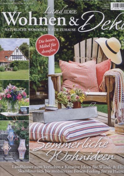 Landidee Wohnen und Deko Natürliche Wohnideen für Zuhause Ausgabe Juni Juli 2019 Pressemitteilung wetterfester Lampion Barlooon Cover
