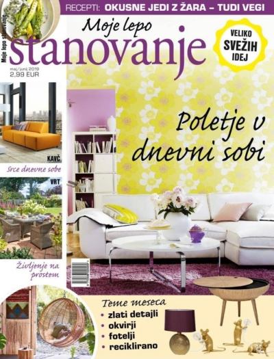 Moje Lepo Stanovanje_Ausgabe Mai-Juni 2019_ Pressemitteilung wetterfester Lampion Barlooon Cover