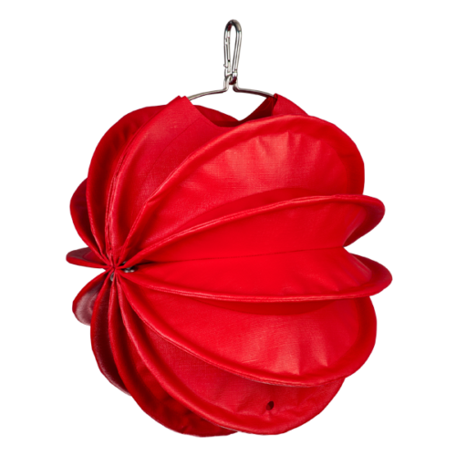 The weatherproof Outdoor Lampion Barlooon in red in size S - The side view.