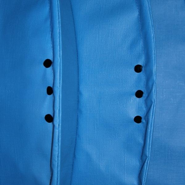 The weatherproof Outdoor Lampion Barlooon in blue in size L - The rain drain holes.