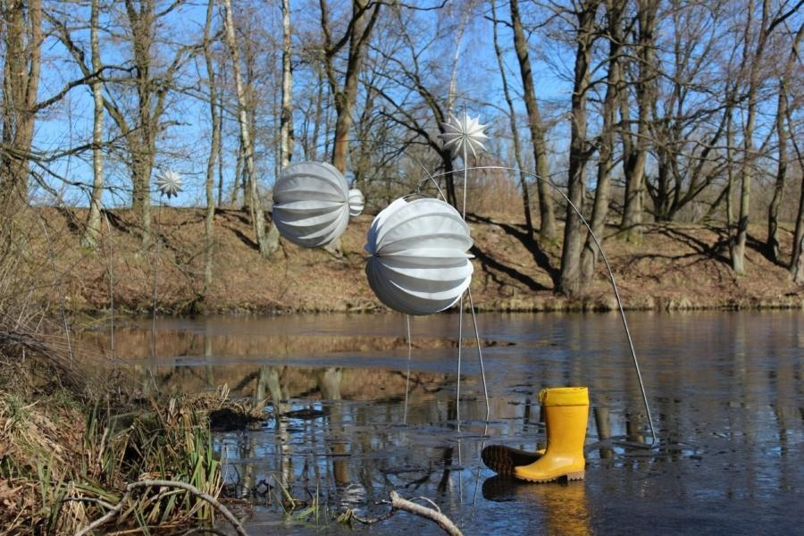Weatherproof and robust Lampion Barlooon even in winter.