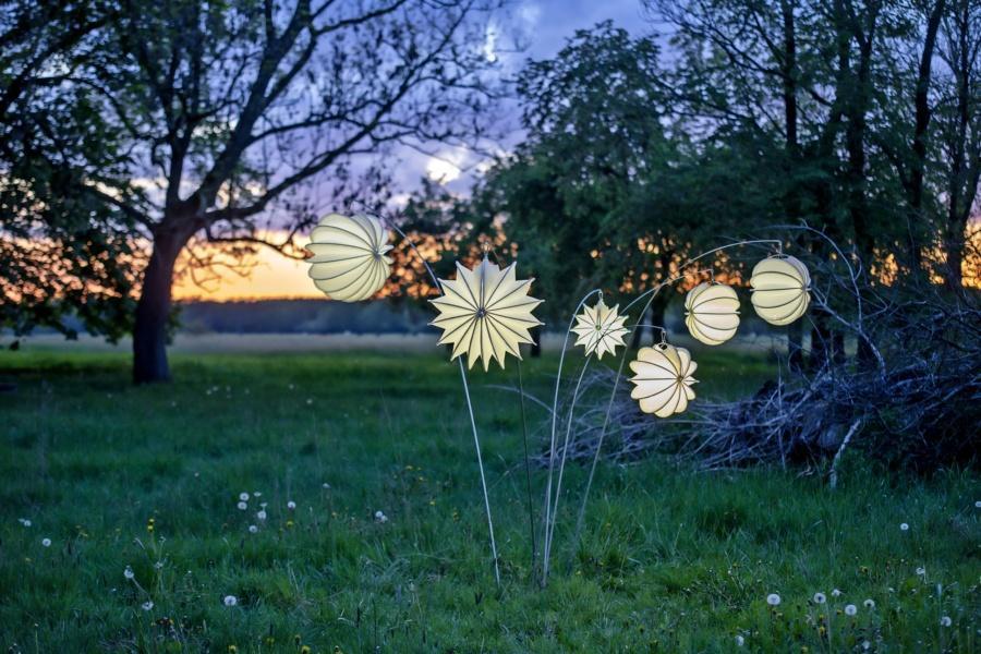 Wetterfester und robuster Lampion Barlooon im Sonnenuntergang